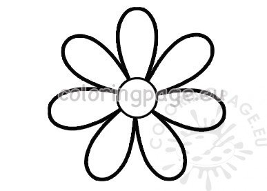 Seven petal flower template printable