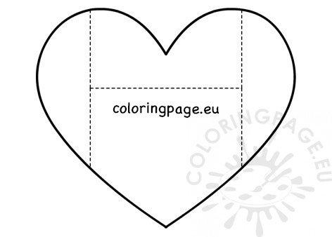 Valentine Folding heart envelope printable