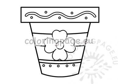 Decorative flower pot template printable