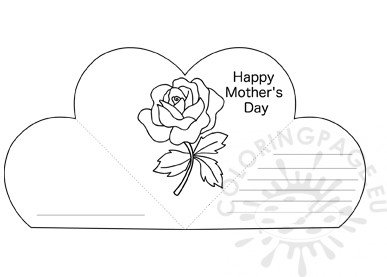 Mother's Day greeting card with a rose