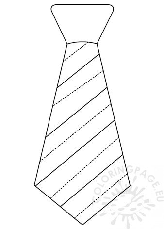 Striped Necktie template