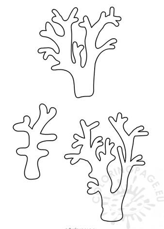 Printable Coral template