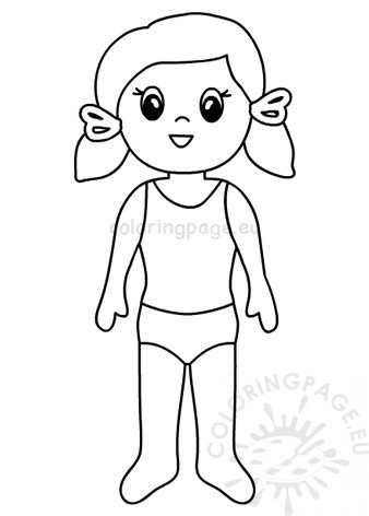 Paper Doll Girl template