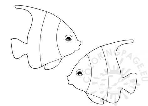 Tropical fish template