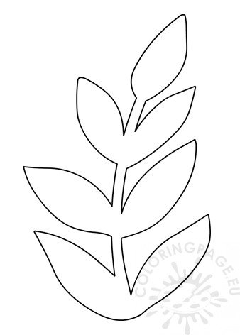 Wall decor paper leaves