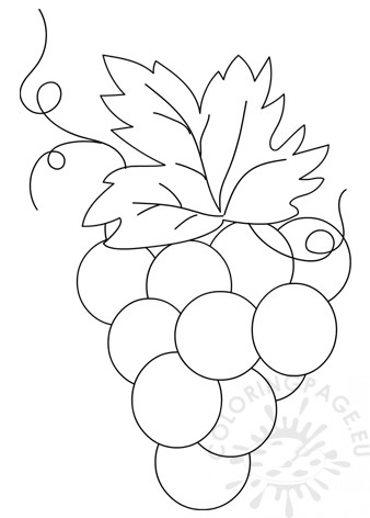 Printable Bunch of Grapes template
