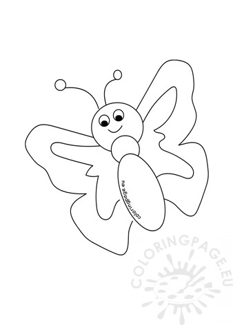 Flying butterfly template