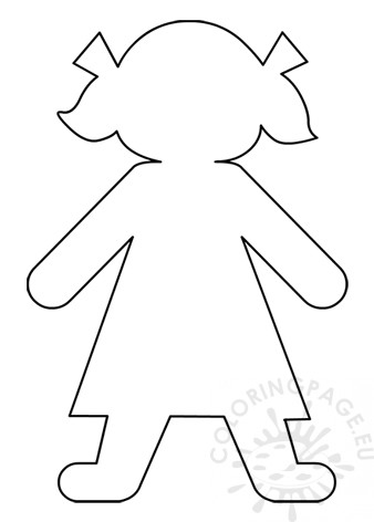 Little Girl Paper Doll template