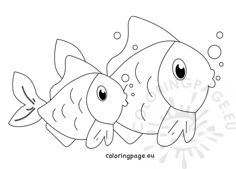 Two fish swimming under the sea