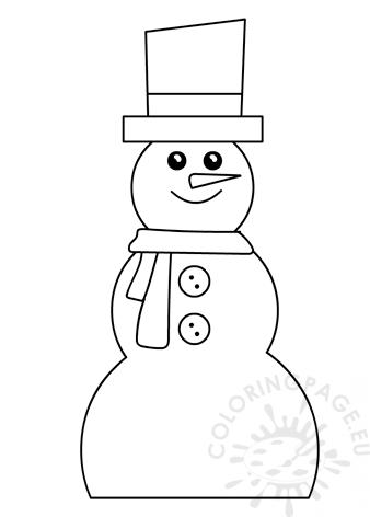 Christmas snowman template