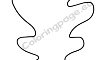 Yellow Oak Leaf Printable Coloring Page