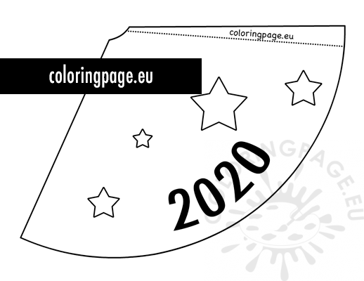 New Years Eve Hat 2020 template