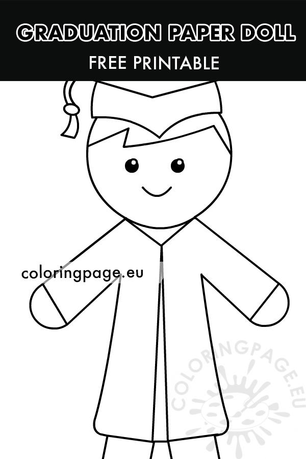 Graduation Boy Paper Doll printable