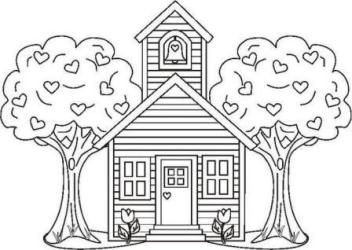 House Coloring Page 2012 01 13 Coloring Page