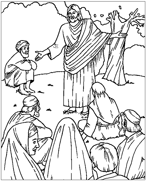Sermon on the Mount Coloring Page & Coloring Book