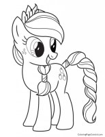 My Little Pony   Applejack 03 Coloring Page   Coloring ...