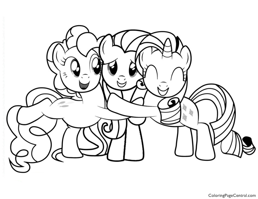 My Little Pony Friendship Is Magic 02 Coloring Page