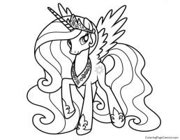 My Little Pony   Princess Celestia 02 Coloring Page ...