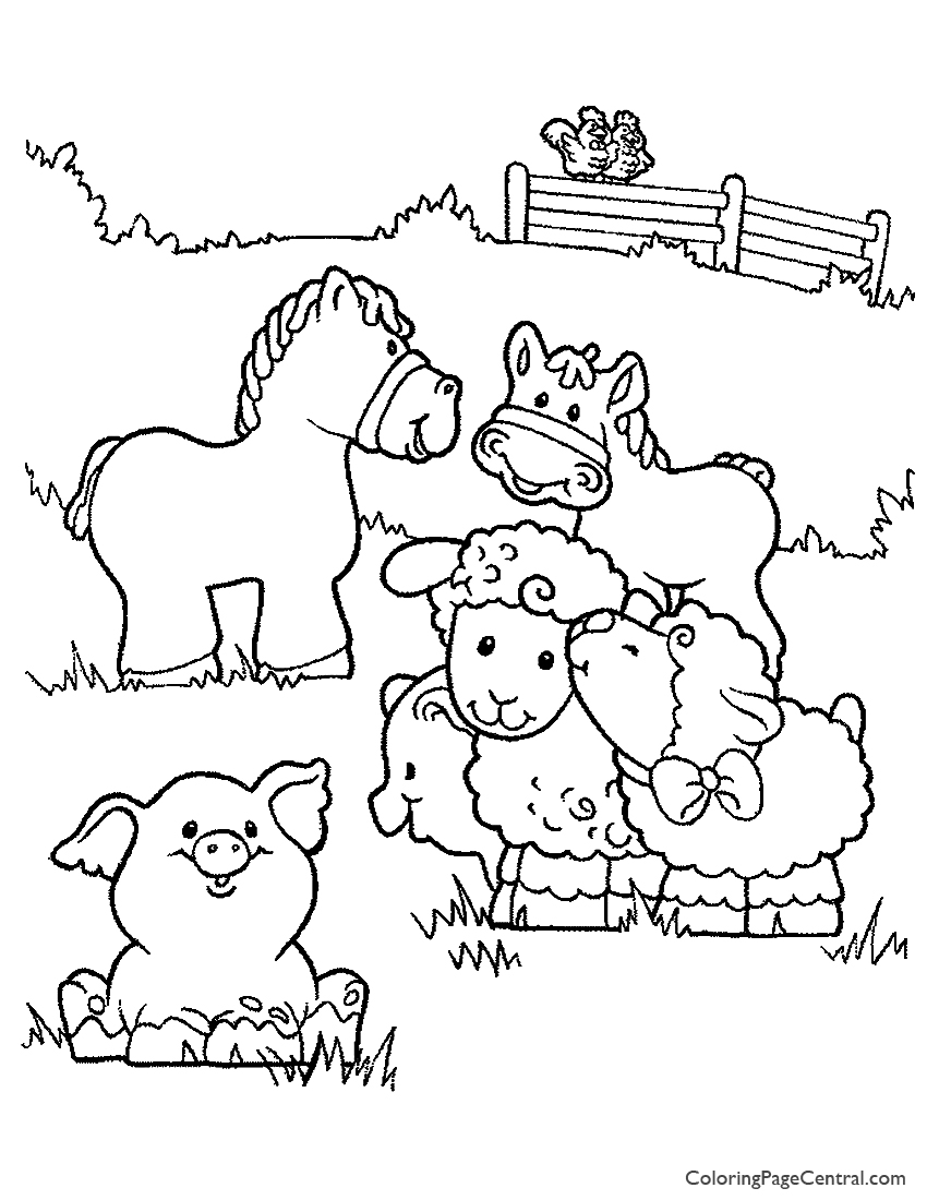 Cute Pig Animal Coloring Pages