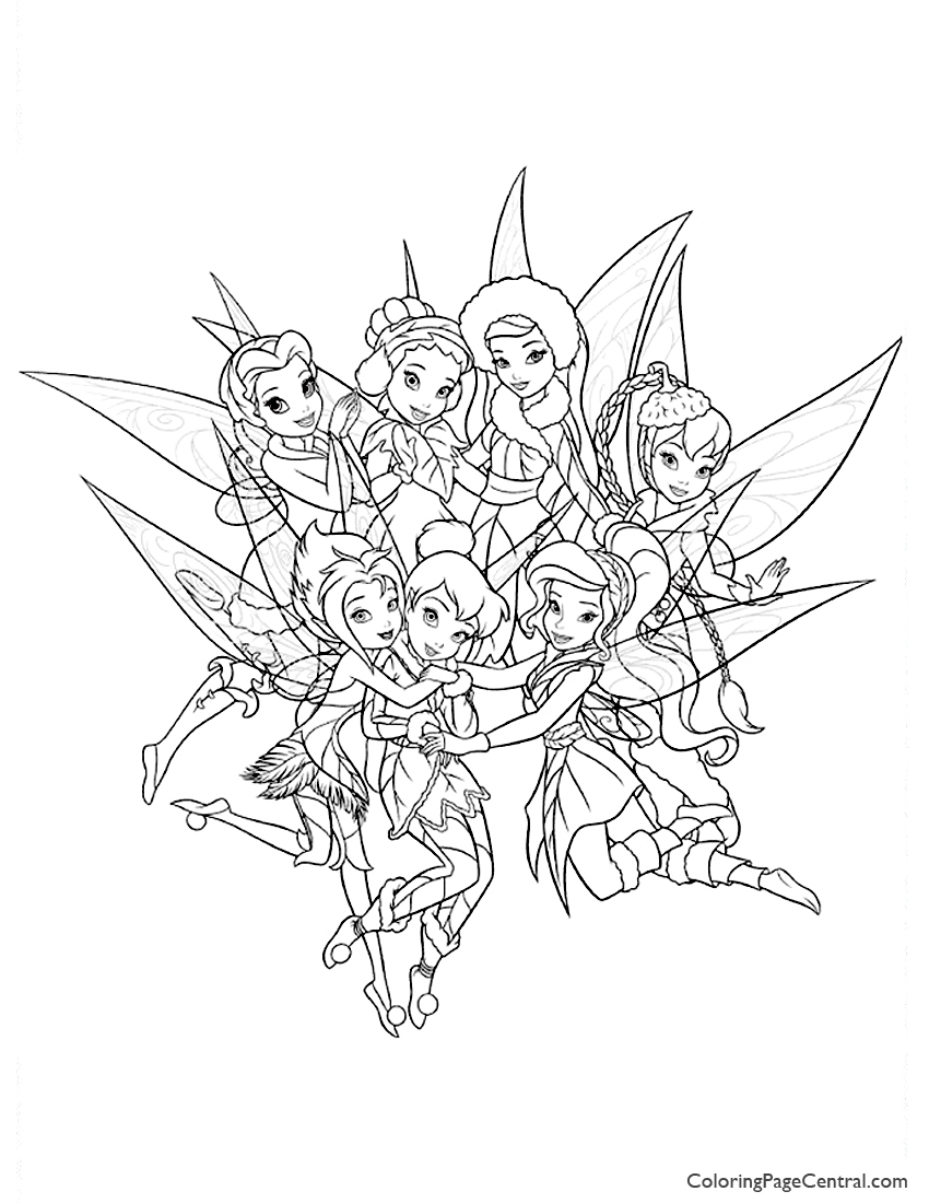 Tinkerbell And Friends 01 Coloring Page Coloring Page