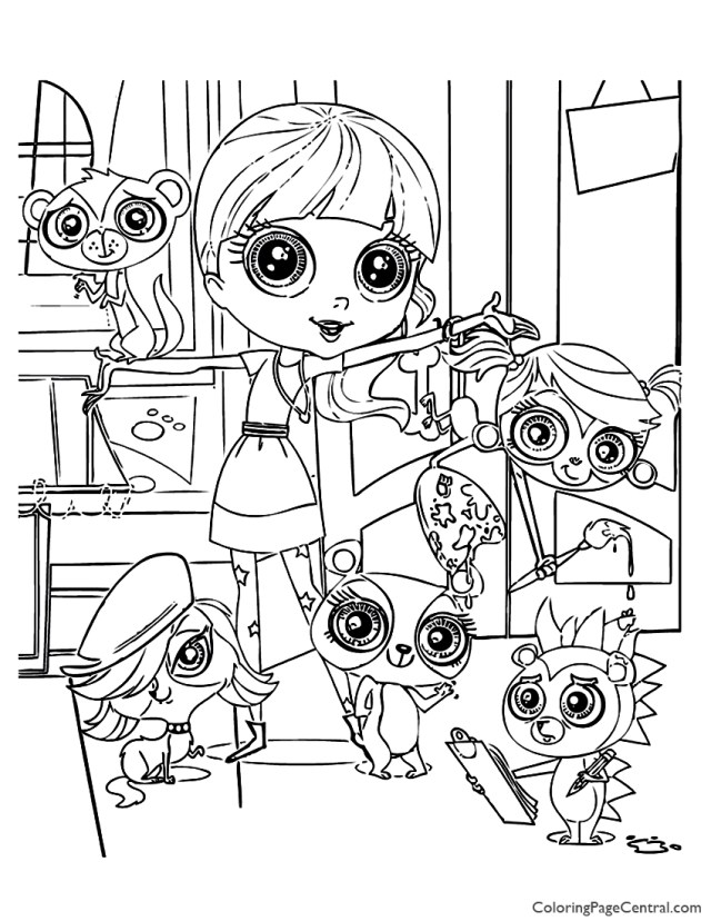 Littlest Pet Shop 21 Coloring Page  Coloring Page Central