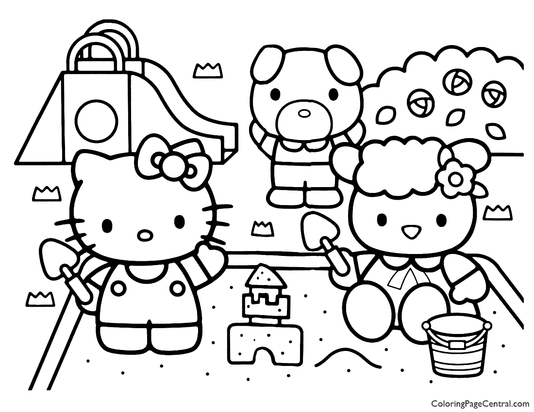 Hello Kitty Coloring Page 13