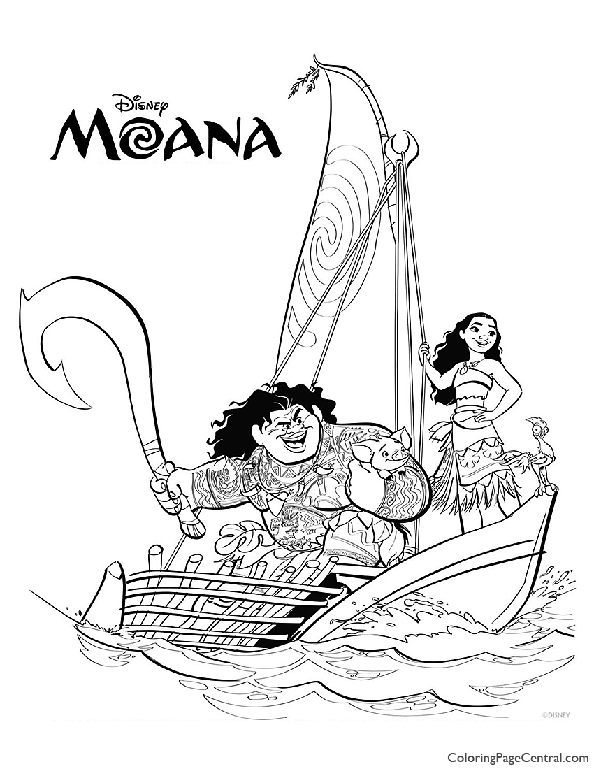 Moana Coloring Page 02 Coloring Page Central