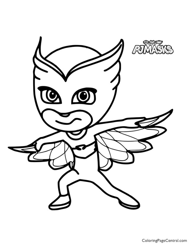 PJ Masks - Owlette Coloring Page  Coloring Page Central