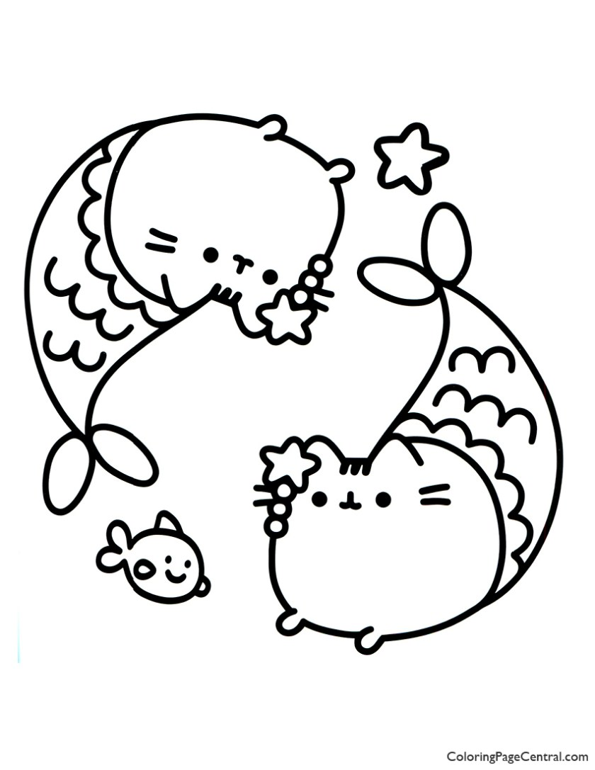 pusheen coloring page 14  coloring page central