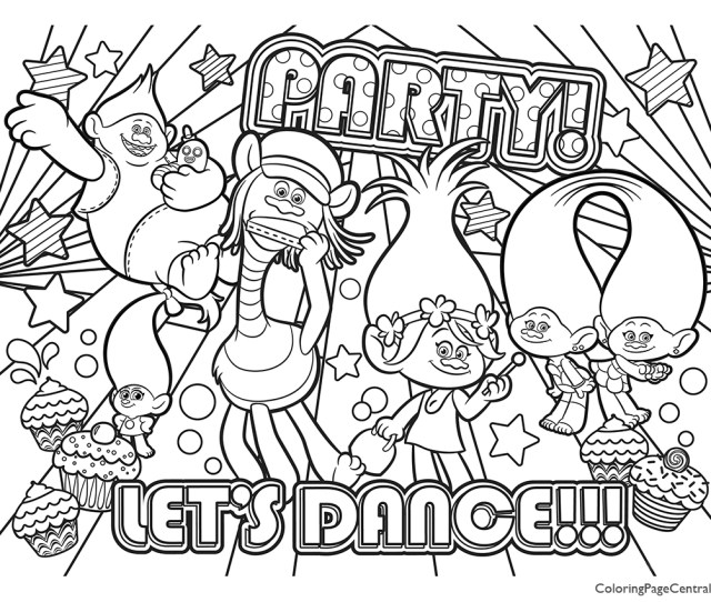 Trolls Coloring Page  Coloring Page Central
