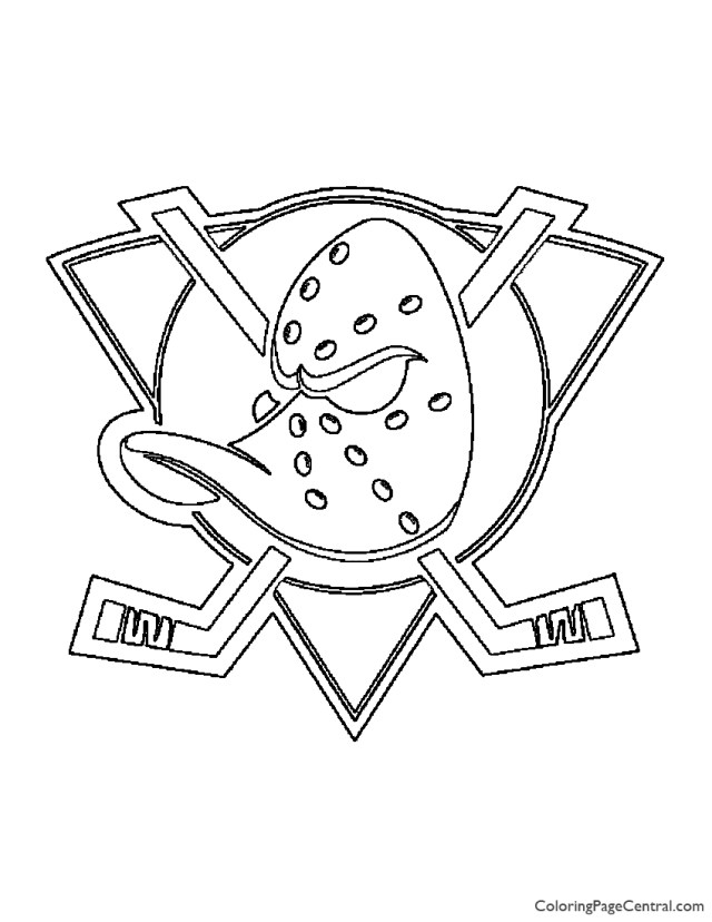NHL - Anaheim Mighty Ducks Logo Coloring Page  Coloring Page Central