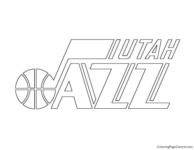 NBA Utah Jazz Logo Coloring Page  Coloring Page Central