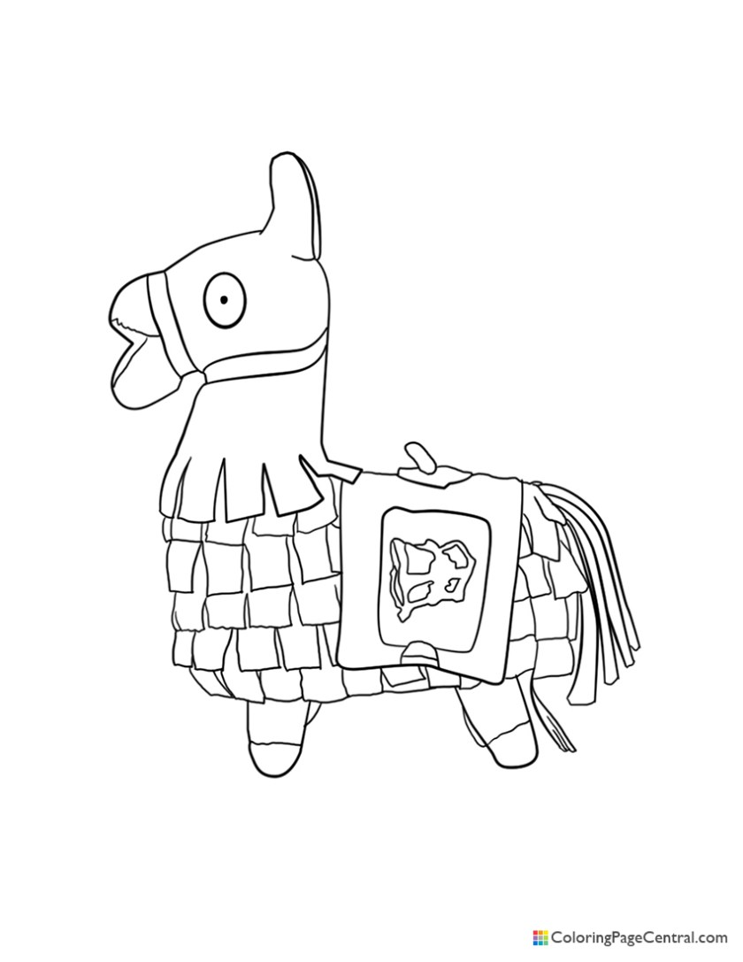 fortnite  llama 02 coloring page  coloring page central