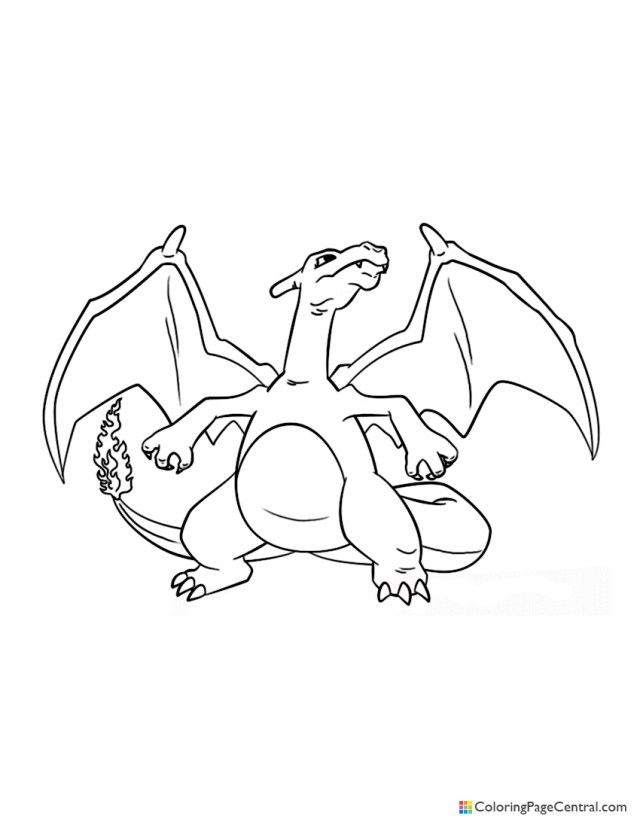 Pokemon - Charizard 18 Coloring Page  Coloring Page Central