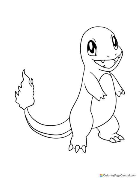 Pokemon Coloring Pages Charmander : pokemon, coloring, pages, charmander, Charmander, Coloring, Central