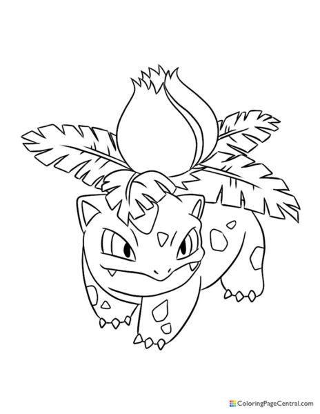 Pokemon Ivysaur Coloring Pages : pokemon, ivysaur, coloring, pages, Ivysaur, Coloring, Central