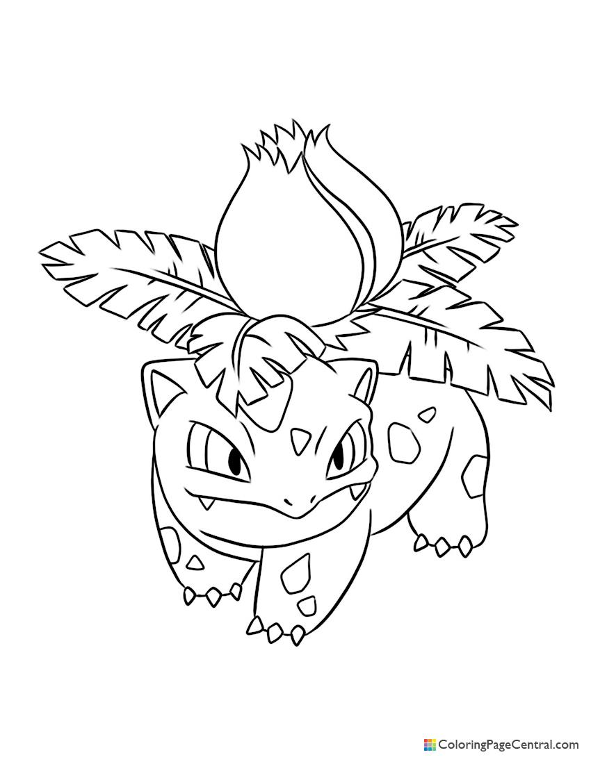 Pokemon Ivysaur Coloring Pages : pokemon, ivysaur, coloring, pages, Pokemon, Ivysaur, Coloring, Central