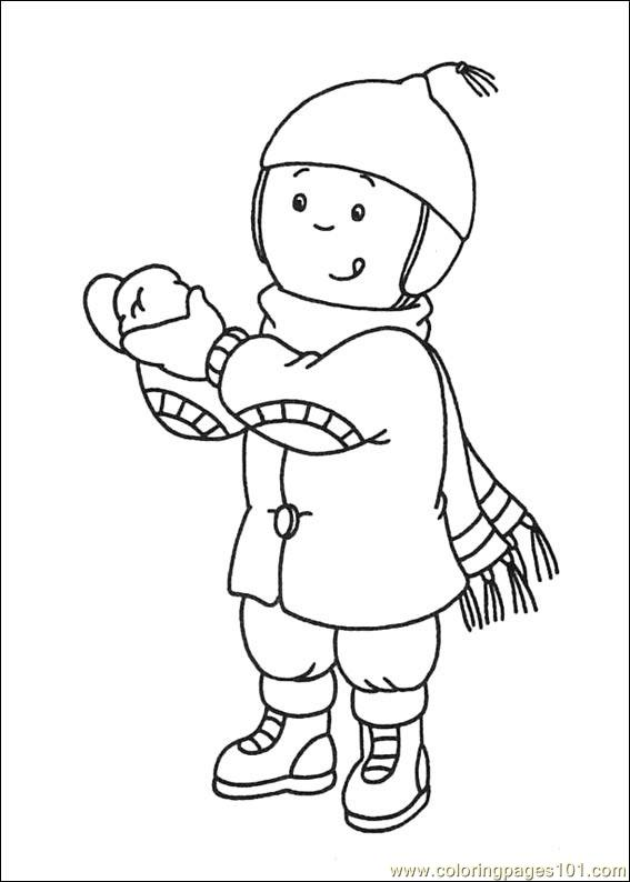 Coloring Pages Caillou Coloring Pages 019 Cartoons
