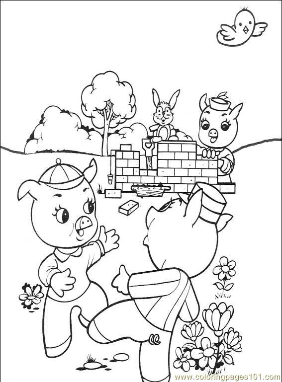 Sequencing Three Pigs Page Coloring Pages