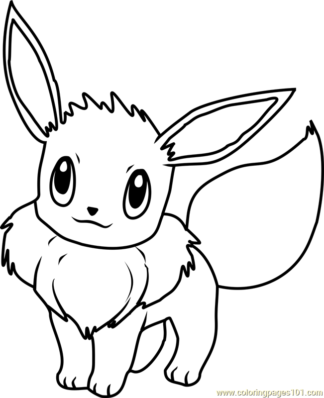Pokemon Coloring Pages Eevee : pokemon, coloring, pages, eevee, Eevee, Pokemon, Coloring, Printable, Pages, Online, ColoringPages101.com