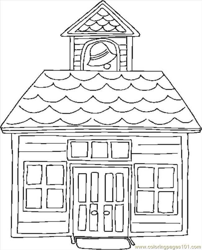 School House Coloring Page : school, house, coloring, School, House, Coloring, Printable, Pages, Online, ColoringPages101.com