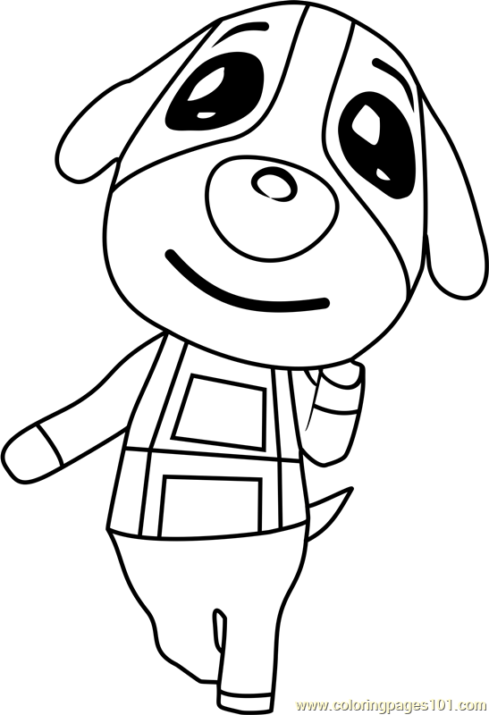 Printable Animal Crossing Coloring Pages : printable, animal, crossing, coloring, pages, Cookie, Animal, Crossing, Coloring, Printable, Pages, Online, ColoringPages101.com