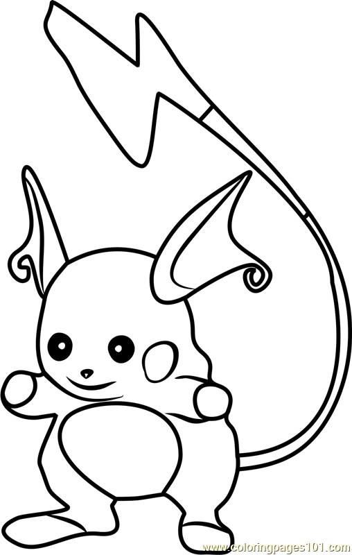 Raichu Pokemon Coloring Pages : raichu, pokemon, coloring, pages, Raichu, Pokemon, Coloring, Printable, Pages, Online, ColoringPages101.com