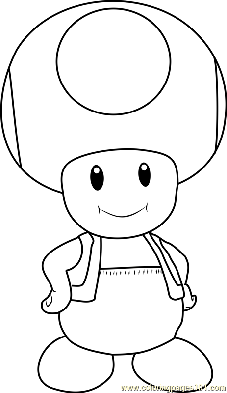 Toad Coloring Pages : coloring, pages, Mario, Coloring, Pages