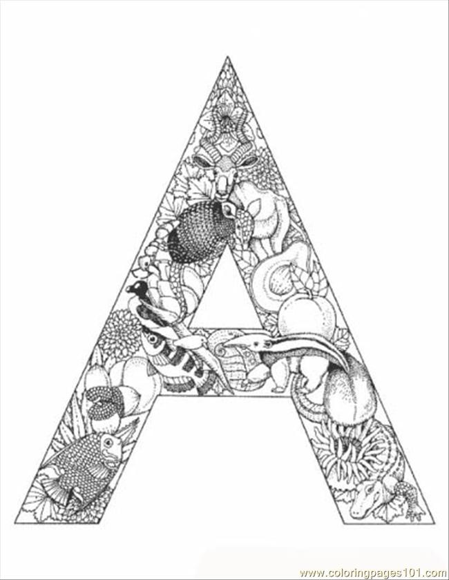 Coloring Pages Mal Alphabet Letters To Print (Education