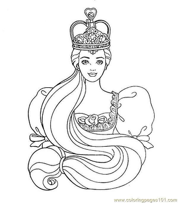 Coloring Pages Free Printable Princess Colouring Page 0(3