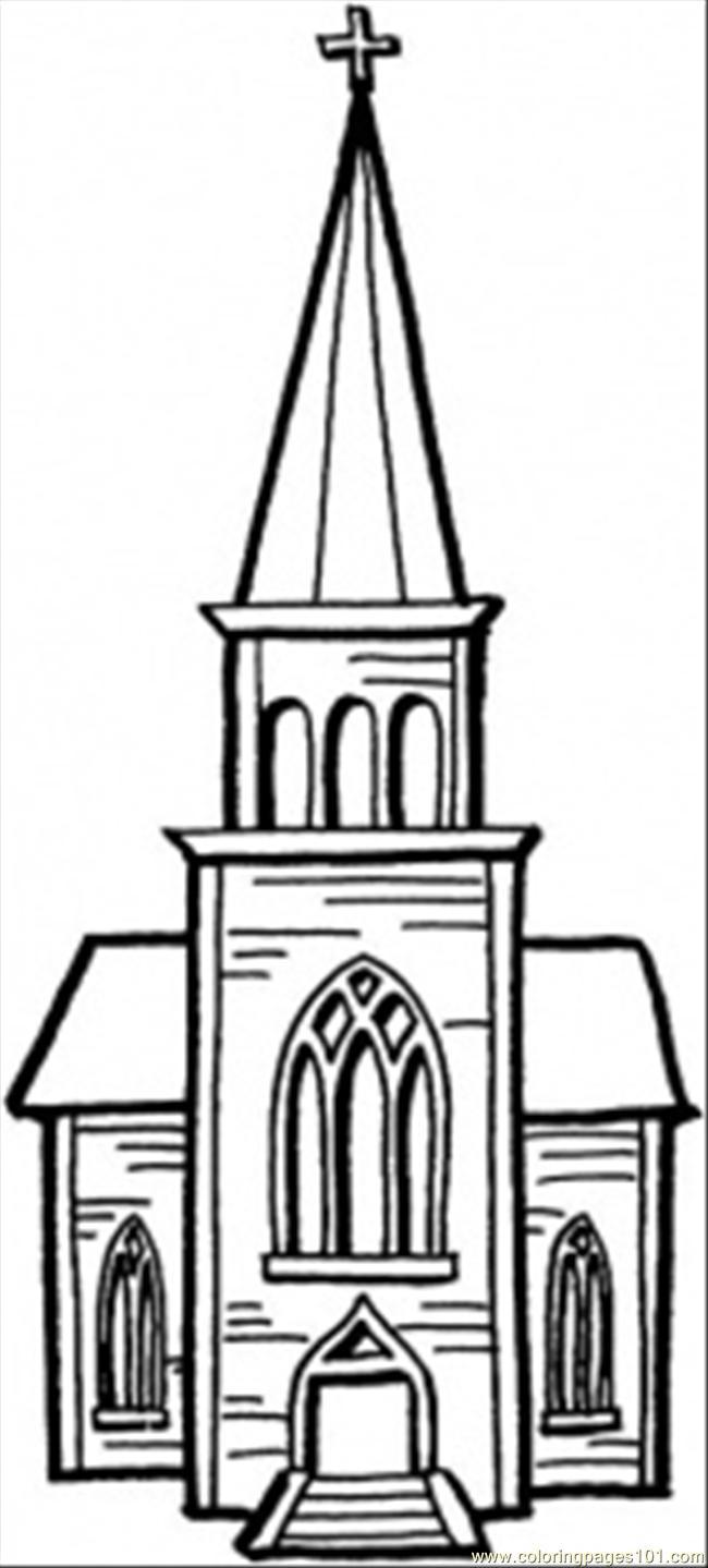 Coloring Pages Little Chapel (Architecture > Buildings