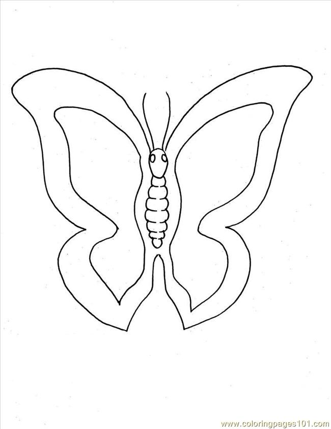 Coloring Pages Tterfly Coloring Pages 1 Full (Insects