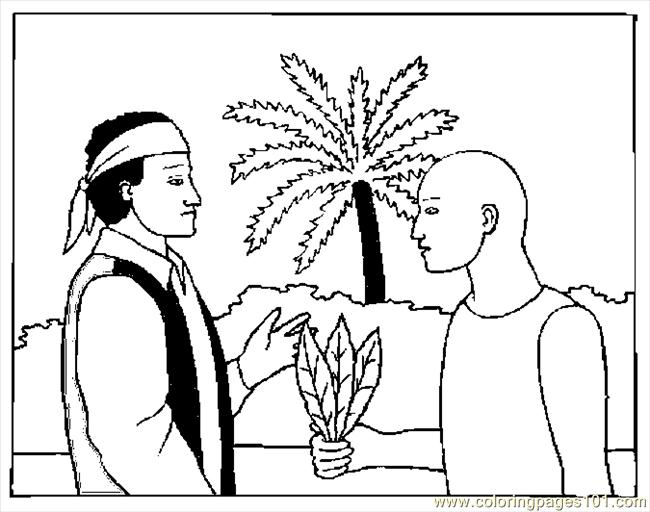 Coloring Pages Native Showing Tobacco (Holidays > Columbus