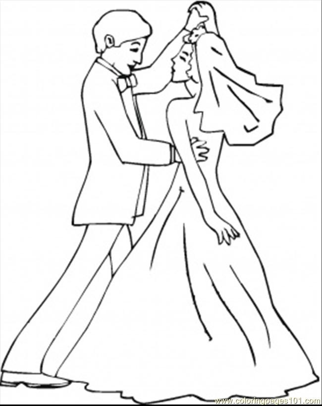 Coloring Pages Wedding Dance (Entertainment > Dancing